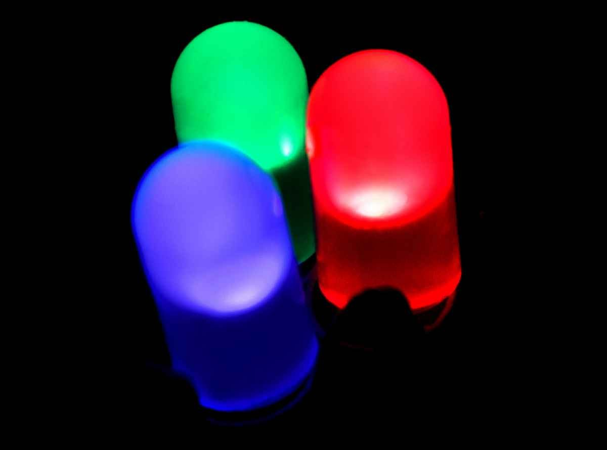 red blue green LEDs
