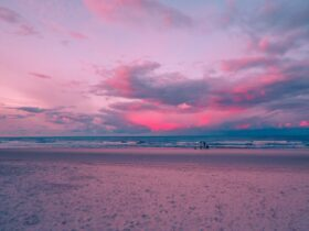 sea dawn landscape sky