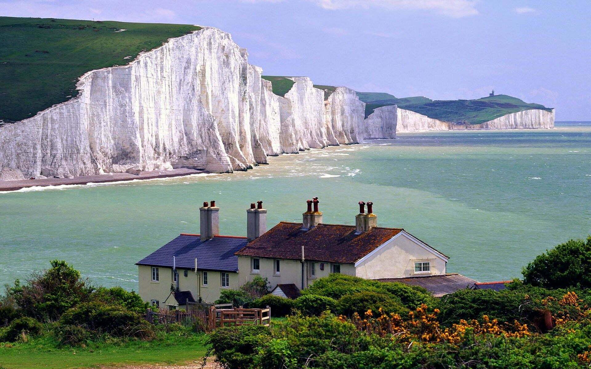 The White Cliffs Of Dover Wide Desktop Background